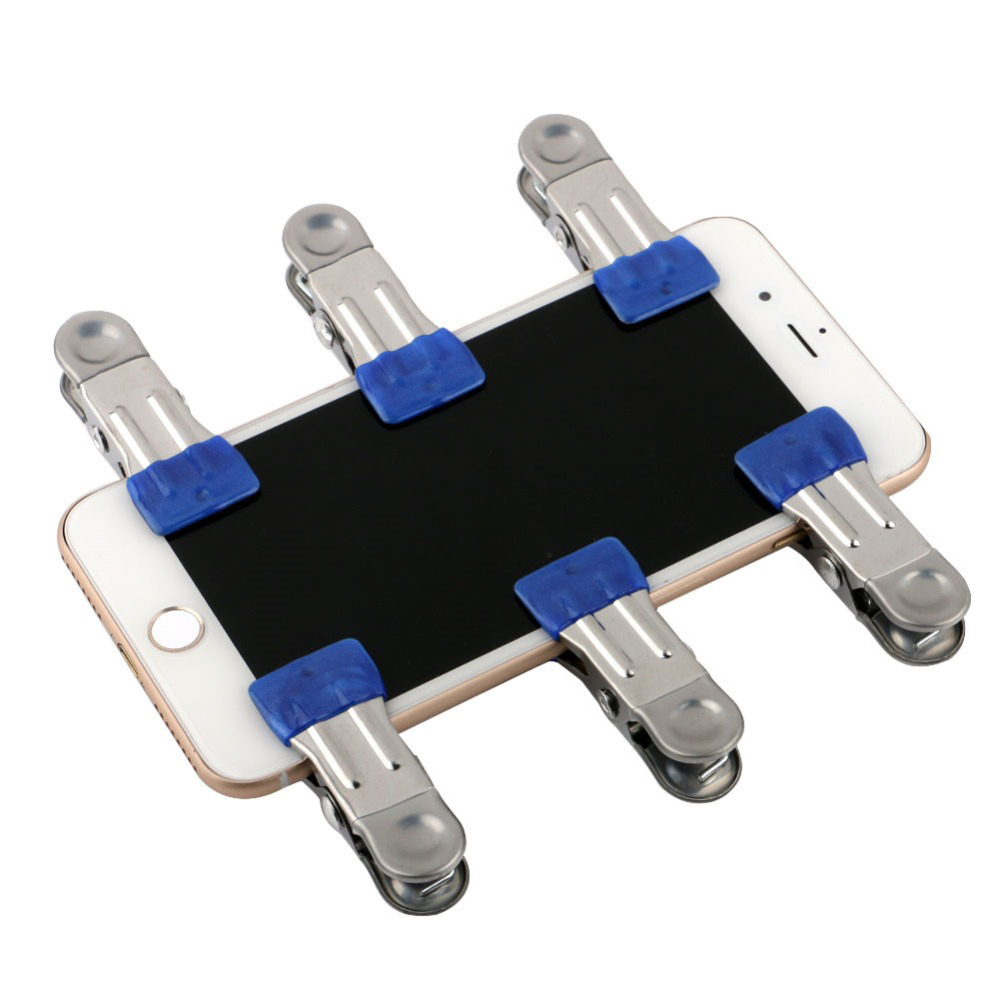 10Pcs Metal Clip Fixture Fastening Clamp for Mobile Phone Tablet Glued LCD Screen Repair Tool