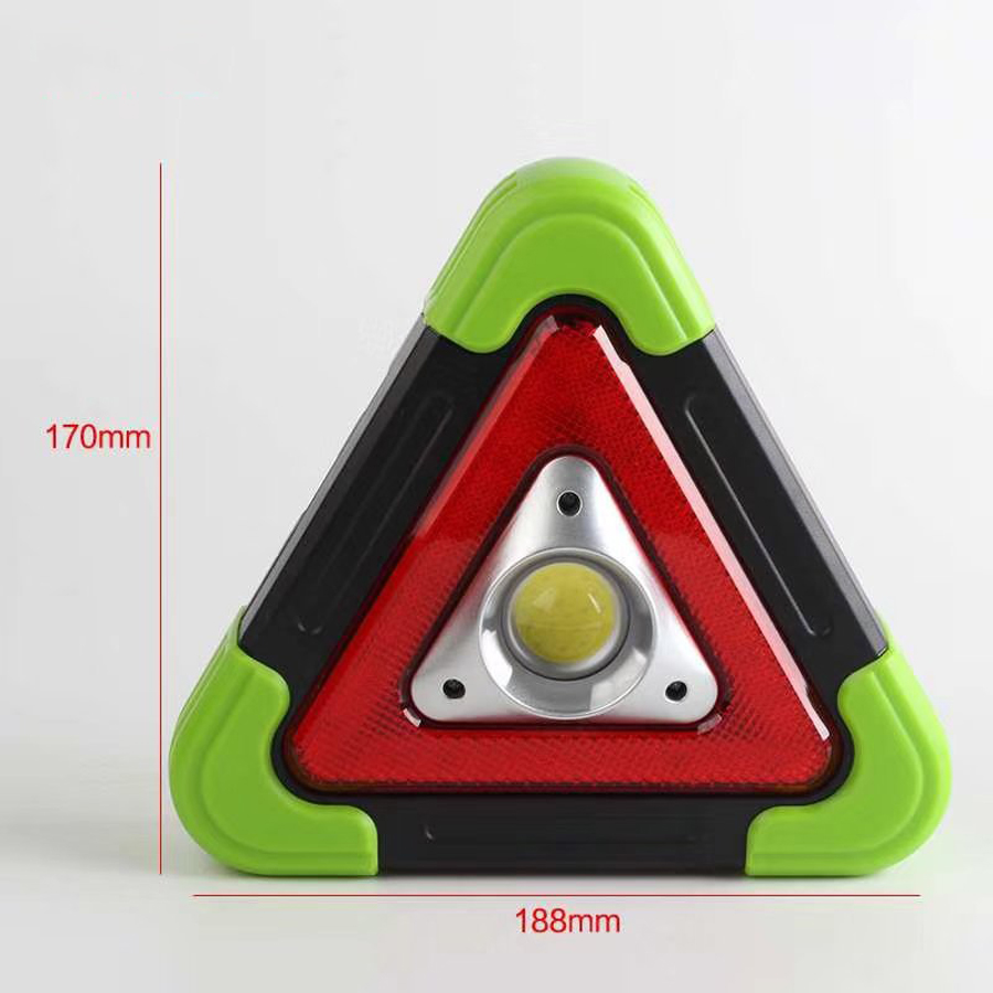 COB + LED 4Modes USB Rechargeable Solar Power Triangle Warming Light Flashlight Work Light