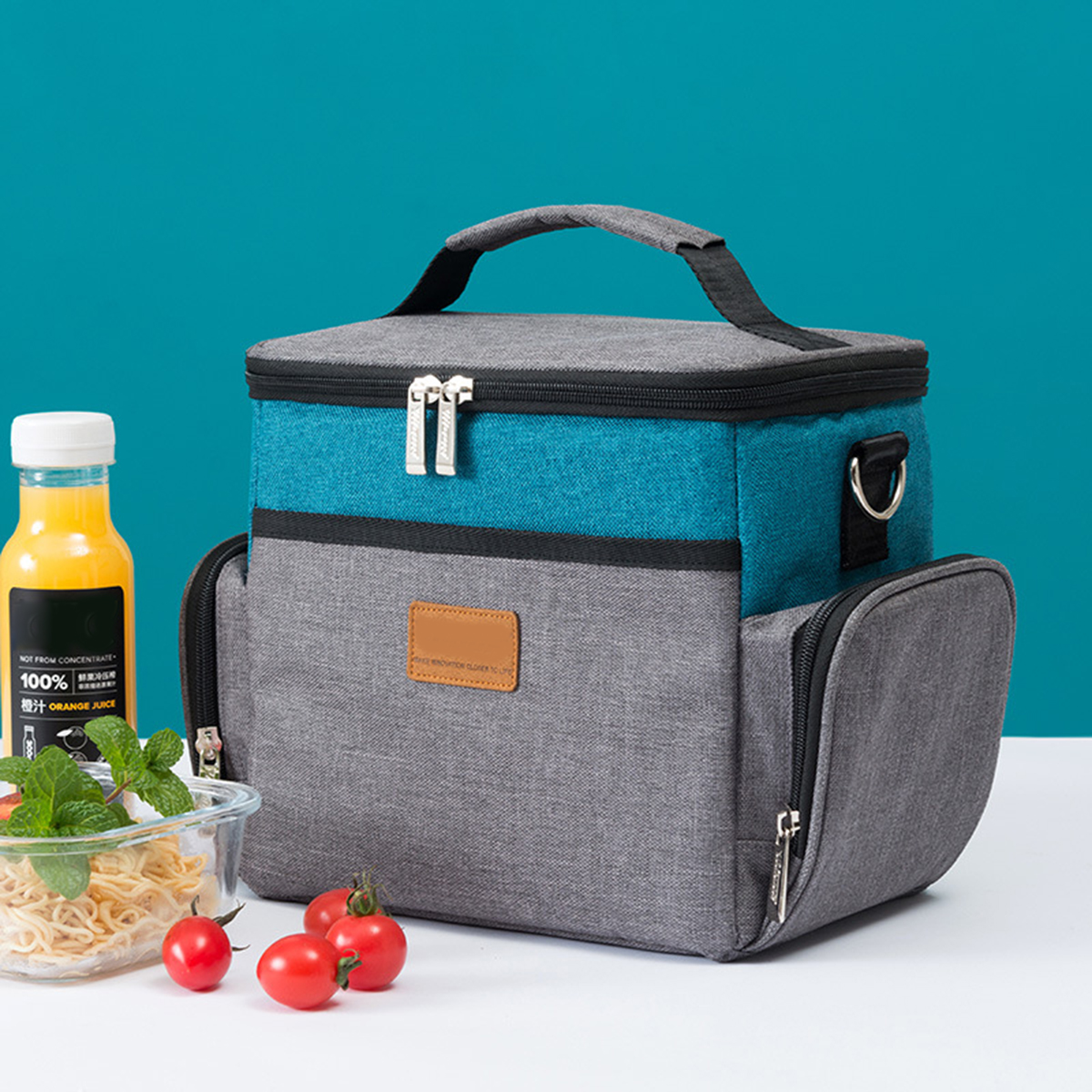 7.5L Outdoor Picnic Insulated Oxford Thermal Lunch Bag Food Cooler Case Tote Camping Hiking