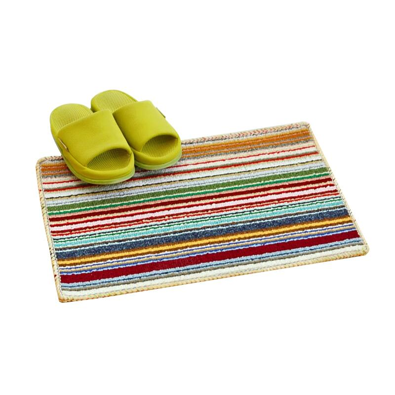 Bright Colored Stripe Carpet Door Mats Anti Slip High Water Absorbing Carpets Rugs Floor