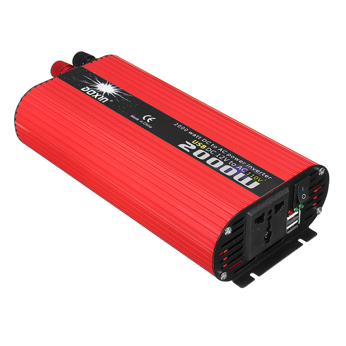 DOXIN 2000W Solar Power Inverter DC 12V/24V to AC 220V/110V Modified Sine Wave Converter