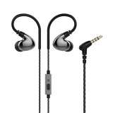 Z4 3.5mm In-ear Wired Control Earphone HIFI Bass Sound Double Moving-coil IPX5 Waterproof With Mic