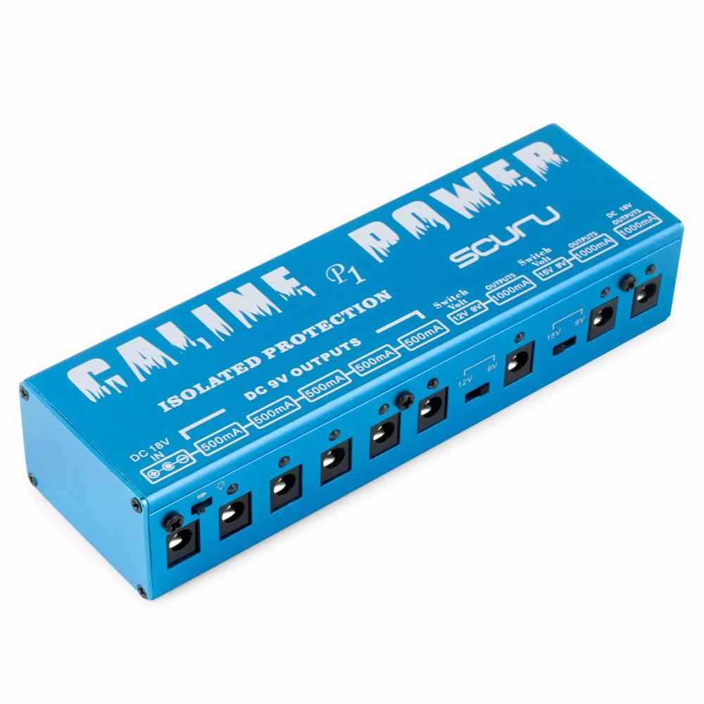 caline p1 dc 18v 8 isolated power supply guitar effects pedal for 9v 12v 15v 18v guitar effects. Black Bedroom Furniture Sets. Home Design Ideas