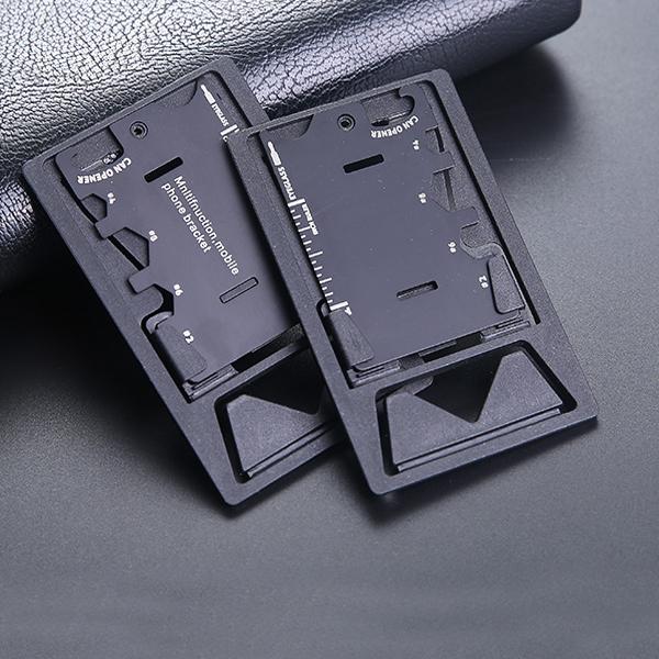 IPRee 3 In 1 EDC Mini Card Knife Multifunctional Folding Phone Bracket Bottle Opener Tool Kits