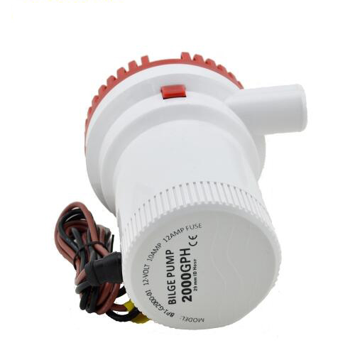 High Pressure 2000GPH Boat Bilge Pump 24V Bilge Bump 24V DC 12V Kayak Rule Water Electric 2000 GPH