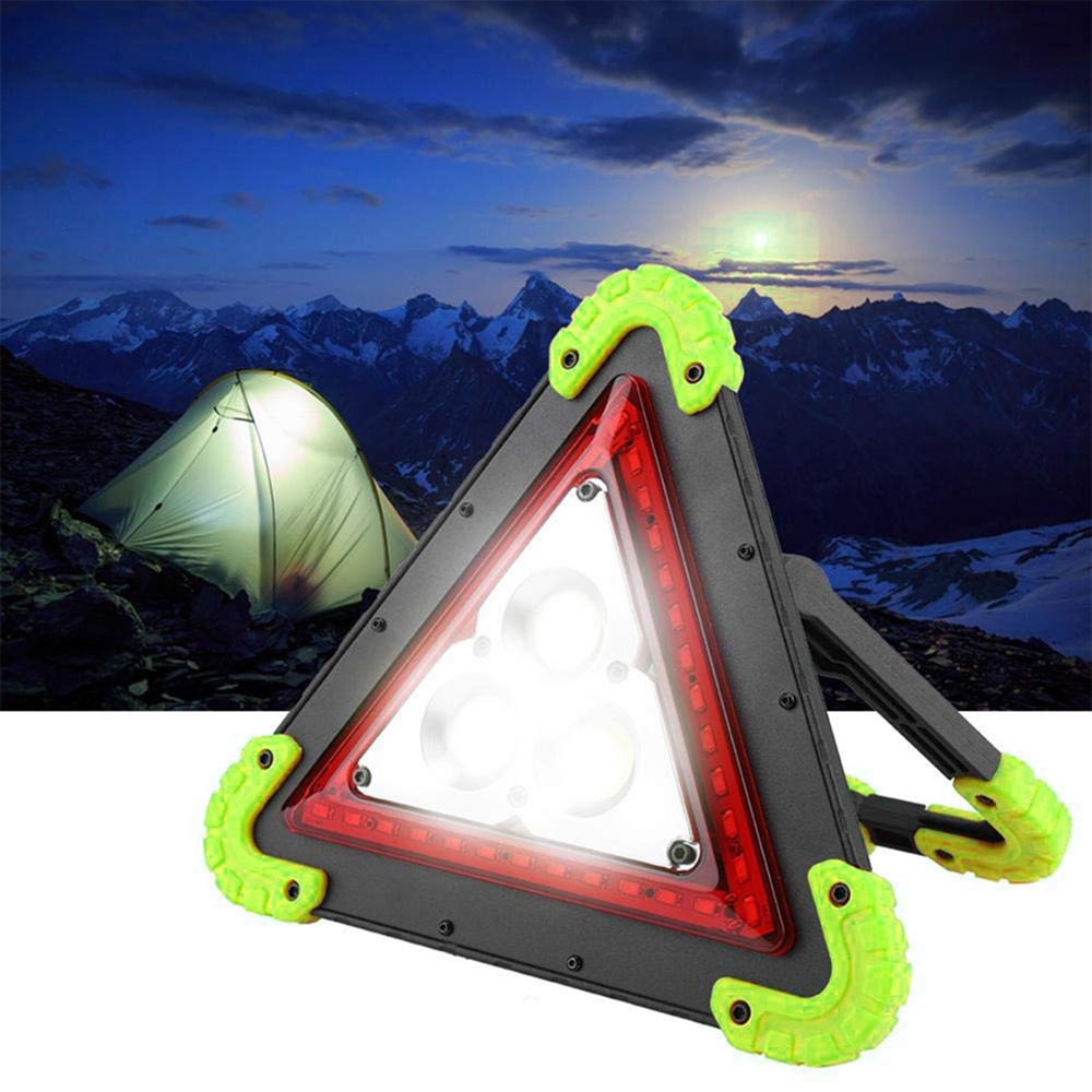LUSTREON 3 COB+36 LED Outdoor Portable Handle Triangle