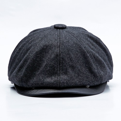 Men Women Winter Leisure Cotton Earmuffs Newsboy Painter Hat Solid Beret Caps Peaked Cap