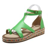 Roman Gladiator Sandals Summer Wedges Platform Women Shoes