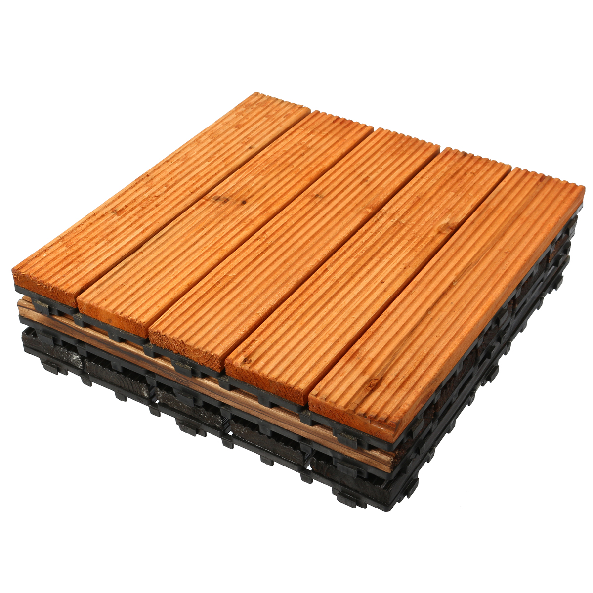 30x30cm DIY Wood Patio Interlocking Flooring Decking Tile ...