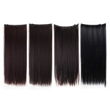 "7Pcs Clip In Synthetic Chemical Fiber Human Hair Extensions 22"" Long Straight"