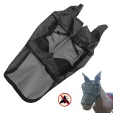 Equestrian Horse Anti-flies Anti-UV Mask Hood Horse Full Face Mesh Fleece Padded Midges