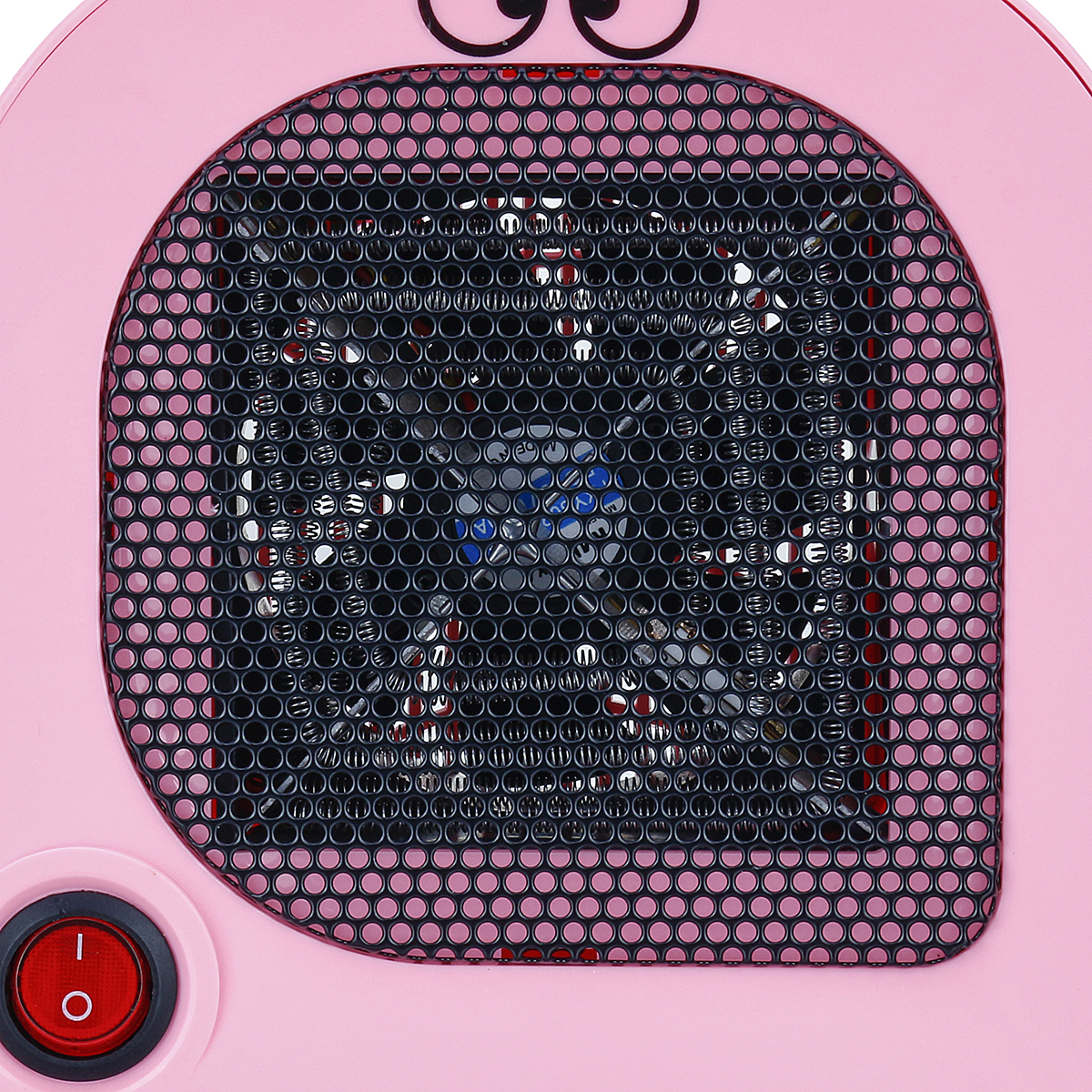 400W Mini Protable Space Heater Cartoon Type Desktop Electric Heater Fan Fast Heating