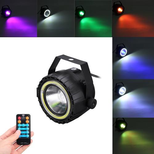 AC90-240V 15W RGB White COB LED Stage Light Remote Control Sound-activated Par Lamp for Christmas