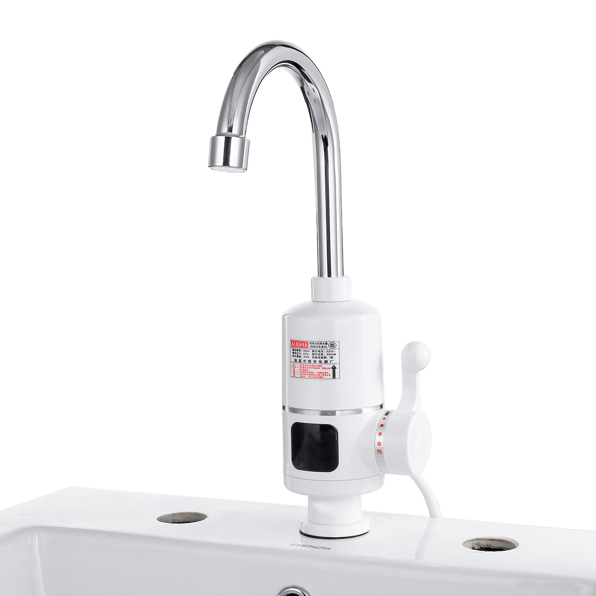 Electric Hot Water Heater >> 3000w Tankless Instant Electric Hot Water Heater Faucet Led Kitchen Bathroom Heating Tap