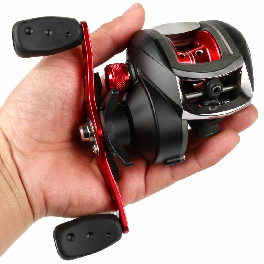 ZANLURE LA200 8.1:1 12+1BB Fishing Reel Left/Right Hand Max Drag 20LB Baitcasting Wheel