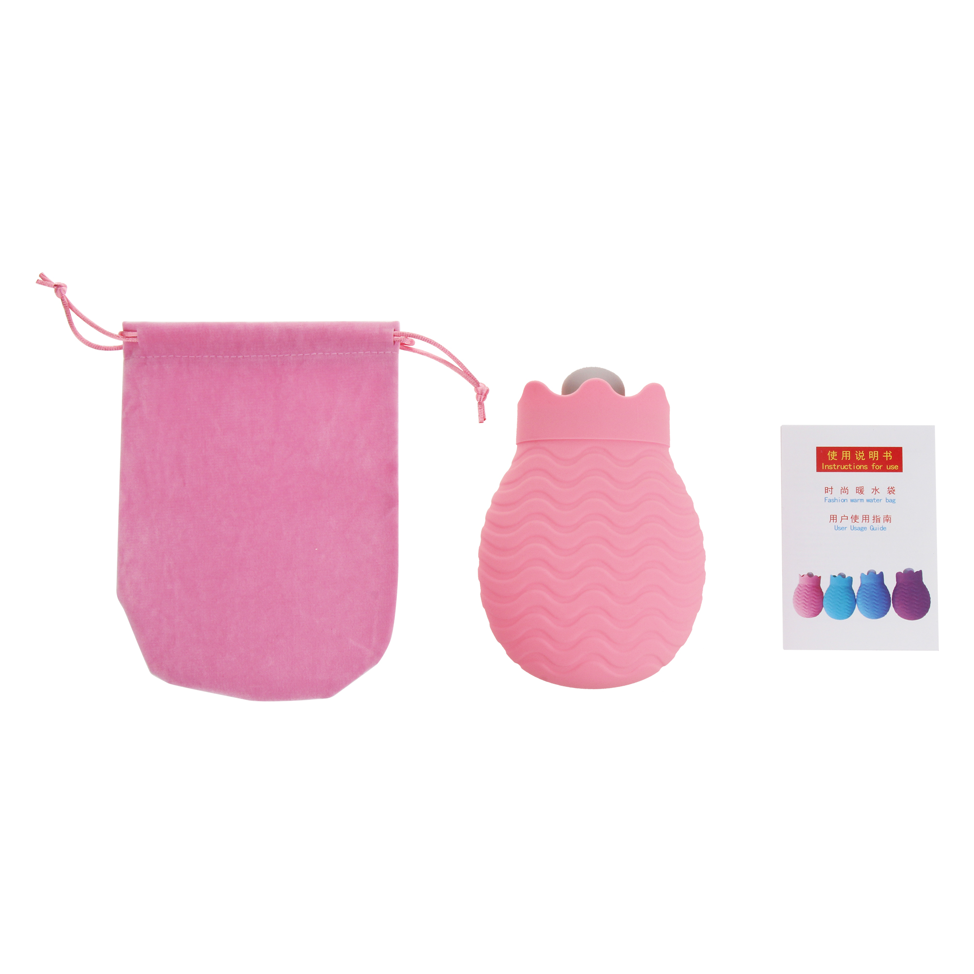 IPRee 450ml Hot Water Bag Winter Heater Microwave Heating Silicone Bottle