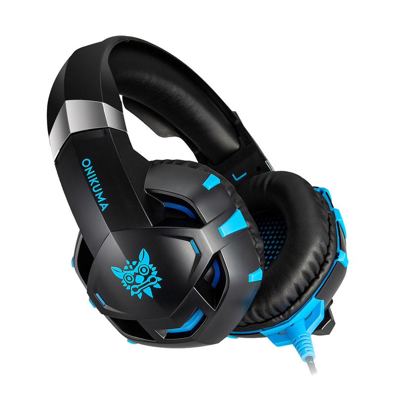 K2A Gaming 3.5mm Wired Headset Noise Cancelling for Lighting PS4 Gaming Computer Headphone With Mic
