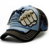 Men Women Fist Letter Embroidery Baseball Hat Fashion Rivet Peaked Cap