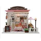 DIY Model Doll House Assembling Christmas Birthday Gift Chocolate House