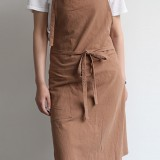Vintage Japanese Cotton Kitchen Aprons Dress with Pocket
