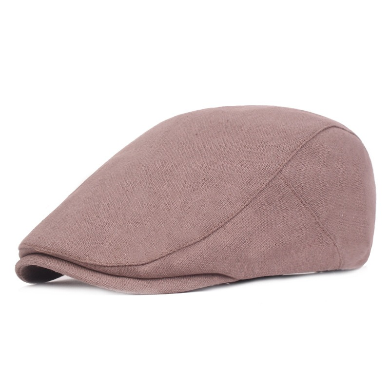 Men Visor Cotton Newsboy Beret Caps Outdoor Casual Winter Cabbie Ivy Flat Hat Adjustable