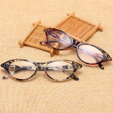 Resin Hyperopia Cat Eye Reading Glasses Fashion Full Frame Reading Eyeglasses Eyewear