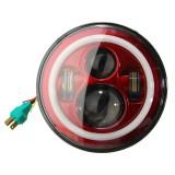 7Inch H4 LED Headlights Hi-Lo Beam Light Halo Angle Eyes for Wrangler