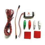 Simulation Navigation Lamp Lights 2S-3S Voltage Ducted LED Light for RC Fixed Wing Aircraft RC Drone