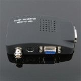 BNC to VGA Video Converter Composite S-video Input to PC VGA Out Adapter Digital Switcher Box For PC MAC TV Camera DVD DVR