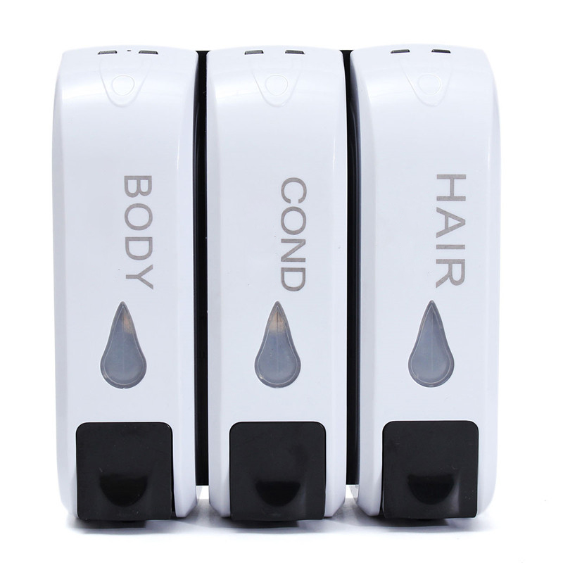 3x 350mL Wall Mounted Bathroom Soap Dispenser Shower Body Lotion Shampoo Liquid Storage Bottle