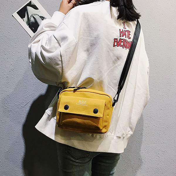 Women Canvas Hip-hop Mini Shoulder Bag Crossbody Bag