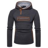 Mens Casual Comfy Stitching Zipper Breathable Slim Warm Hoodies Sweatshirts