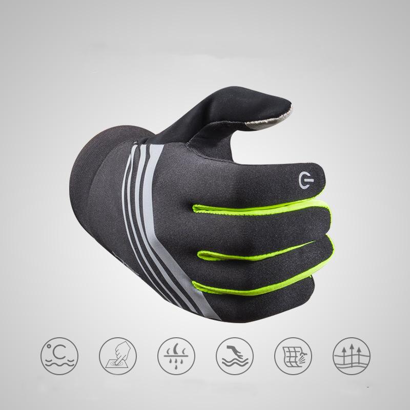 AONIJIE Winter Thermal Warm Full Finger Skiing Cycling Glove Skiing Xiaomi Motorcycle E-bike Bike Bicycle