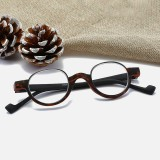 Unisex TR90 Fashion Round Frame Anti-fatigue HD Reading Glasses Presbyopic Hyperopia Glasses