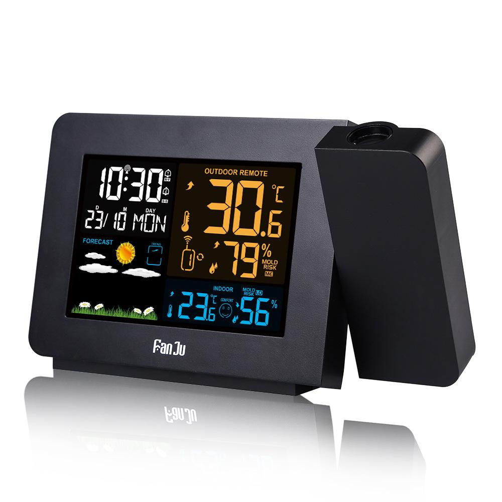 Fanju Fj3391 Weather Station Alarm Clock With Projection