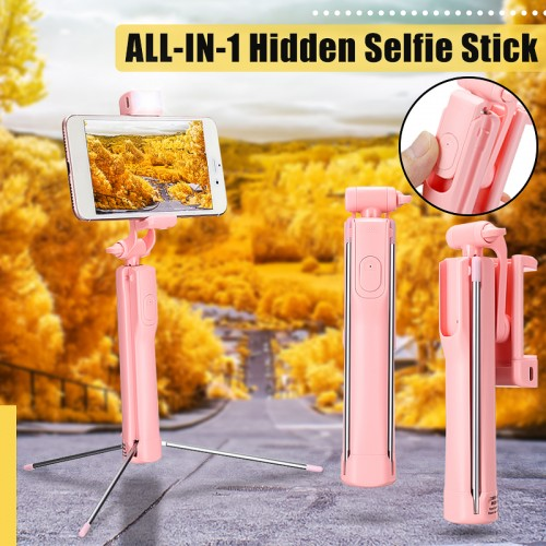 A19 80cm All in 1 Bluetooth Remote Extendable Multi-angle Rotation Tripod Selfie Stick With Fill Light for Smartphones