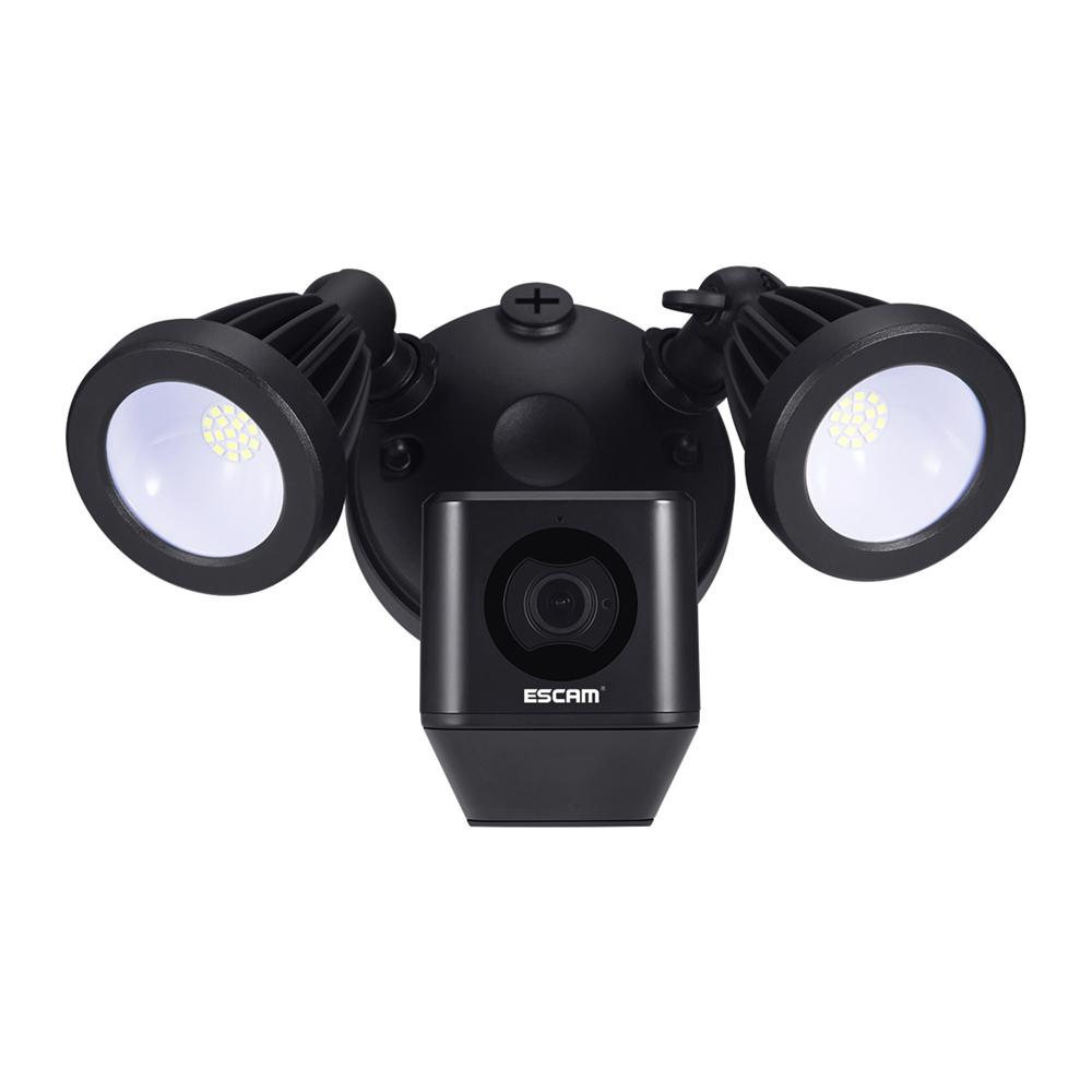 ESCAM QF608 1080P LED Floodlight WiFi IP ONVIF Camera PIR Detection Alarm  Two Way Talk Remote Siren