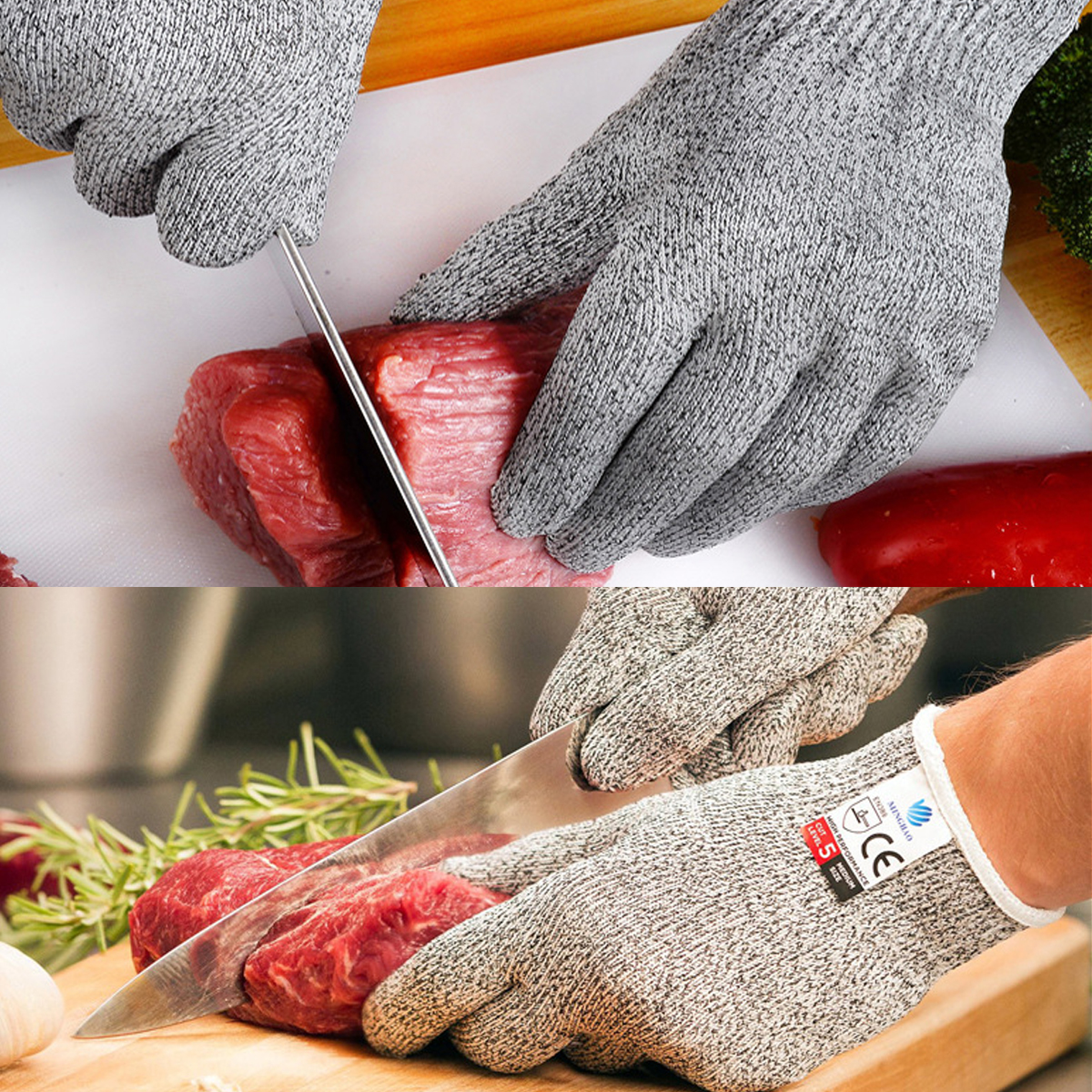 Stainless Steel Wire Metal Mesh Kitchen Safety Cut Proof Stab Resistant Anti-Cutting Gloves