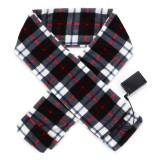 Winter Heating Electric Warm Scarf Fleece Long Scarves Lattice Style