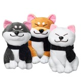 Kawaii Stuffed Plush Toy Doge Puppy Doll With Scarf Shiba Inu Dog Soft Cute Gift
