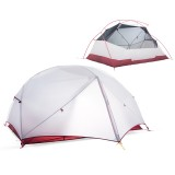 Outdoor 1-2 People Tent Nylon Waterproof Double Layer Sunshade Canopy Camping Hiking