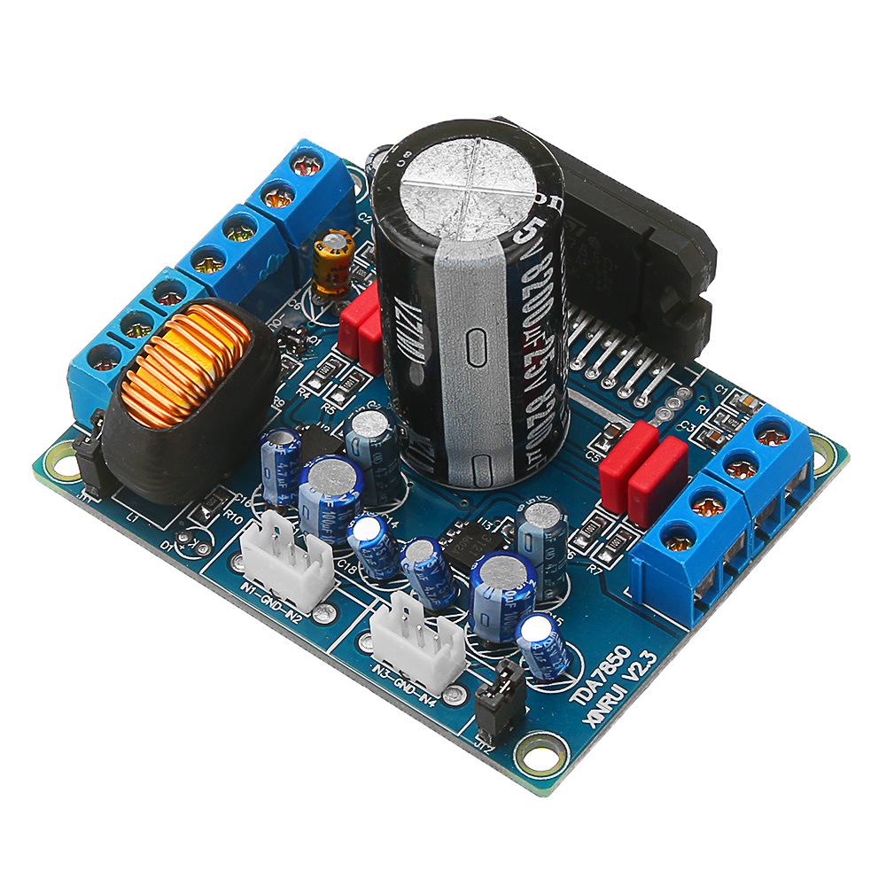 DC 12V A Type 4*50W TDA7850 Car Audio Power Module MOSFET HIFI Amplifier Board