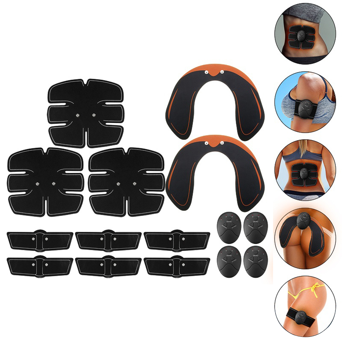 KALAOD 15Pcs/Set Hip Trainer Abdominal Arm Muscle Training Body Shape Sports Smart Fitness ABS