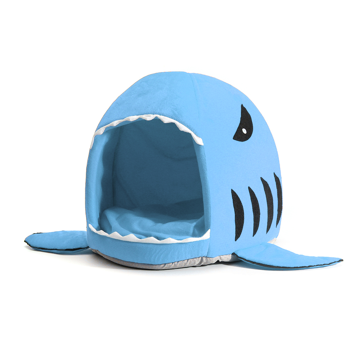 Puppy Pet Cat Dog Shark Mouth House Warm Sleeping Bag Soft Bed Kennel Cushion Pet Bed