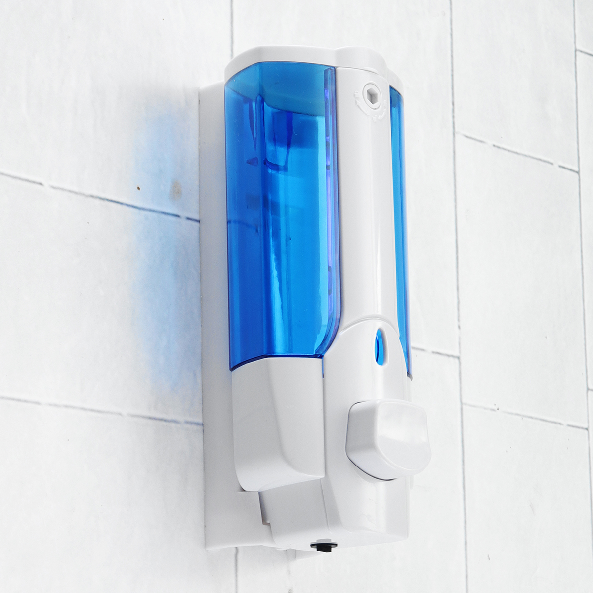 400ml Single/Double Row Shower Soap Dispenser Wall Mounted Liquid Shampoo Plastic Bathroom Accessories Detergent