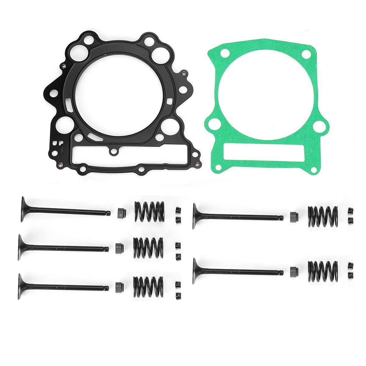 Cylinder Head Valve Spring Rebuild Kit For Yamaha: Air Cylinder Gasket Intake Exhaust Valve Spring Kit For