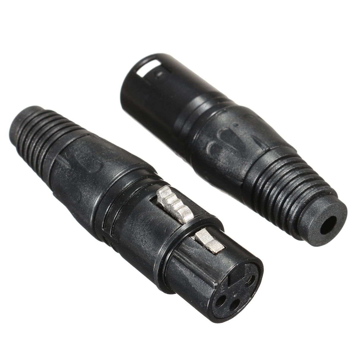 20Pcs XLR 3-Pin 1.8cm Male to 1.5cm Female Connectors MIC Snake Plug Audio Microphone Connector