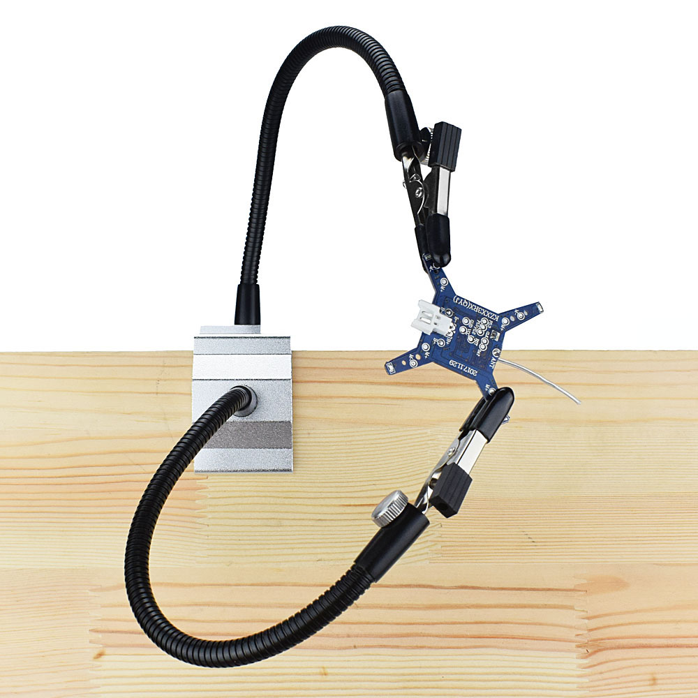 Bench Vise Aluminum Table Clamp Soldering Iron Holder