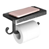 AU Wall Mounted Toilet Roll Tissue Paper Shelf Holder Stand Phone Shelf Bathroom Paper Hold