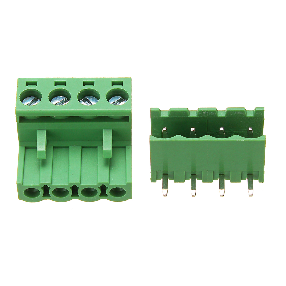 2EDG 5 08mm Pitch 4 Pin Plug in Screw Dupont Cable Terminal Block Connector  Right Angle